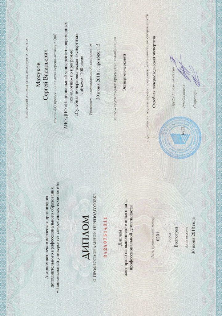 Диплом о профессиональной переподготовке 21